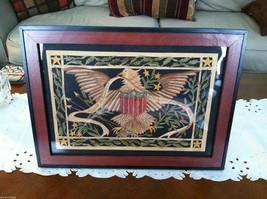 Patriotic Art eagle flag  Scherenschnitte Paper Cutting American Liberty fraktur