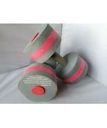 Speedo Aqua Fitness Foam Dumbbell Pair of 2 Gray Red Water Exercise - $21.08