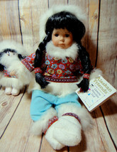 Alaska Friends Traditional Alaskan Porcelain Dolls Native Eskimo 2 Pcs F... - $27.99