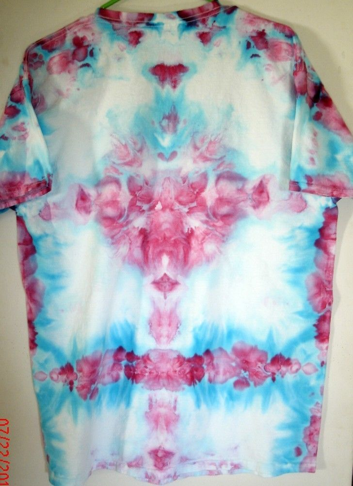 large new cotton tee only blue violet dye used in hand tie dye ice process t shirts. Black Bedroom Furniture Sets. Home Design Ideas