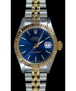 Blue stick dial fluted bezel datejust Rolex wom... - $2,909.31