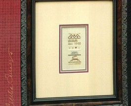 CLEARANCE Pocket Sampler Baby cross stitch chart Heart in Hand - $4.00