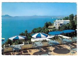 Tunisia Dar Zarrouk Restaurant Sidi Bou Said Vintage Gaston Levy 4X6 Pos... - $4.99