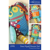 Indygo Junction Pattern Dress Myself Monster Do... - $9.99