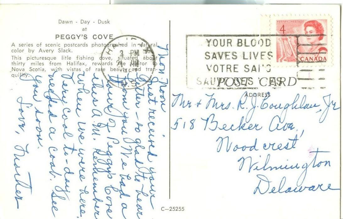 Canada, Peggy's Cove, Nova Scotia, used Postcard