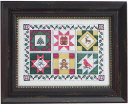 CLEARANCE Quilt Block Christmas cross stitch chart Blue Ribbon Designs  - $9.50