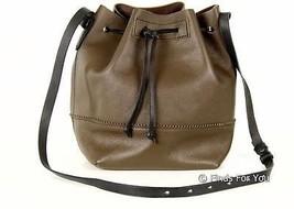 J Crew Downing Bucket Bag Style# B5555 $138 Coffee Black Def - $120.76