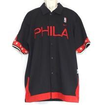 5a6d2e41f Nike Team Sports NBA Philadelphia 76ers Jersey Shirt Men Size L Black  Basketball -  49.47