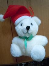 Vintage Dankin Christmas Stocking Hat White Bear 1986 - $5.99