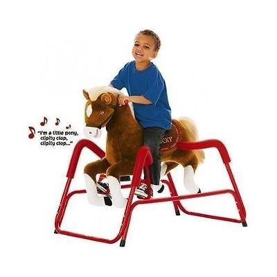 Kids Rock`n  Spring Horse Rocking Talking Animated Pony Childs Toy New