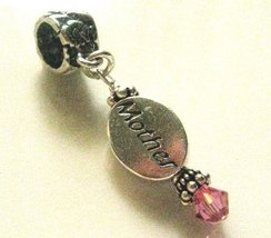Mother October, Pink, Birthstone Sterling Silver Dangle Charm [Jewelry] - $21.84