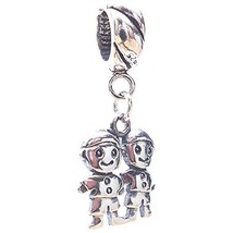 Two Boys Smaller Sterling Silver Dangle Charm [Jewelry] - $22.79