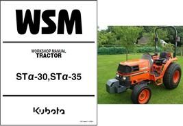 Kubota ST30 ST35 Alpha Tractor Service Repair Workshop Manual CD - ST 30... - $12.00
