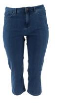 Denim & Co Perfect Denim Crop Length Jeans Indigo Wash 16 NEW A301757 - $27.70
