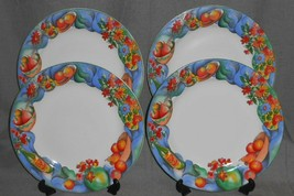 1995 Sakura Zinfandel Pattern Set (4) Dinner Plates - $29.69