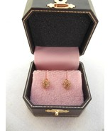 NEW Juicy Couture Pave Heart Locket Stud Earrings Yellow Gold - $26.90