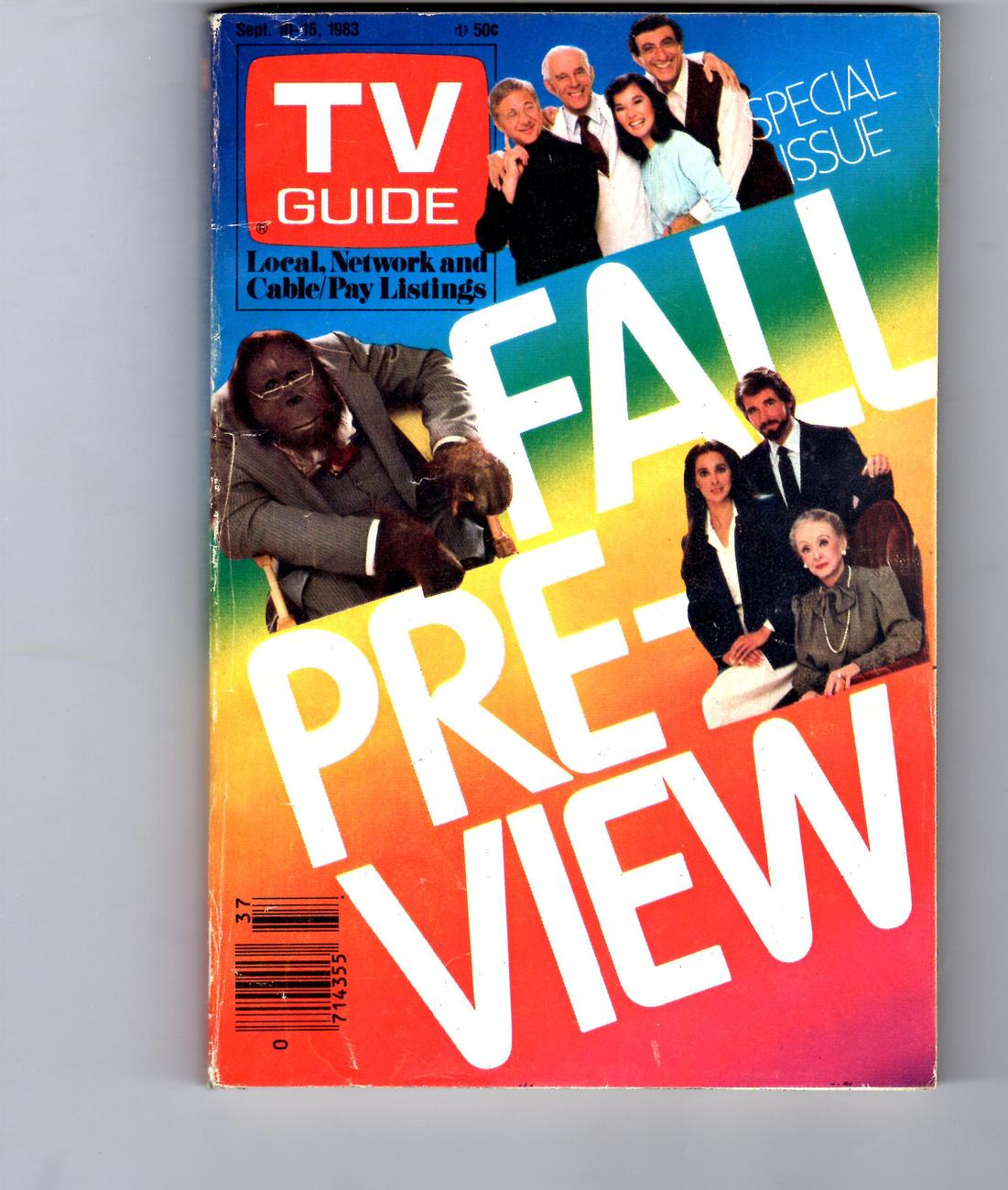 Primary image for TV Guide Magazine Fall Pre-view  9/10/1983