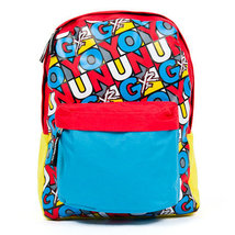MENS YOUNG & RECKLESS ARTISTIC STAMP BACKPACK Y&R RED/BLUE/YELLOW NEW $55 - $32.99