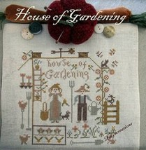 CLEARANCE House of Gardening cross stitch chart Niky's Creations - $10.00
