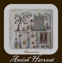 CLEARANCE Amish Harvest cross stitch chart Niky's Creations - $10.00
