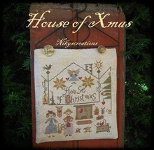 CLEARANCE House of Xmas cross stitch chart Niky's Creations - $10.00
