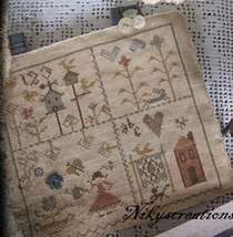 CLEARANCE The Little Sampler cross stitch chart Niky's Creations - $10.00