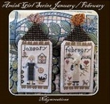 CLEARANCE January February Amish Girl Series cross stitch chart Niky's Creations - $9.00