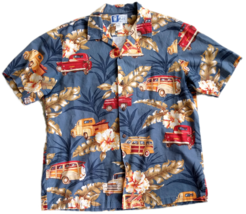 RJC Men's L Hawaiian Shirt Hawaii USA Woodie Truck Pickup Surfboards Woo... - $26.72