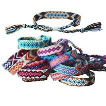 Tangser Nepal Woven Friendship Bracelets with a Sliding Knot Closure for Women,