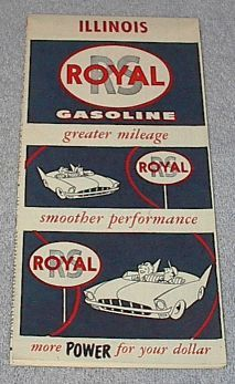 Primary image for  RS Royal Gasoline Royalube Road Map Illinois Ca 1957