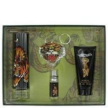 ED HARDY 4pc Men Gift Set 3.4 OZ EDT Spray/3 OZ Shower Gel/.25 OZ Mini/K... - $74.39