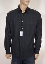 John Varvatos Men's Green Lake Plaid Spread Collar Casual Dress Shirt M - $109.99