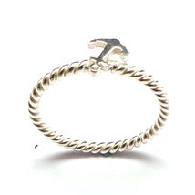 Small Nautical Ship Sailor Anchor 925 Sterling Silver Stacking Ring   - $35.00