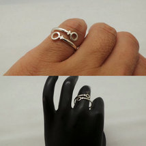 Female Girl Women Lesbian Pride Wrap Silver Ring image 4