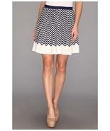 Joie 1609-SK1062 Womens Dark Navy Chevron Striped Silk Lined Short Joney... - $71.99