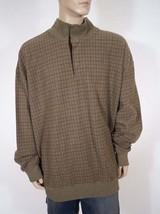 Polo Ralph Lauren Mens Green Plaid 1/2 Button Down Mock Pullover Sweater LT Tall - $71.99