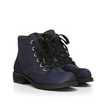 Sam Edelman Bleecker Womens Navy Calf Fur Hair Fashion Ankle Bootie Boot... - $89.99