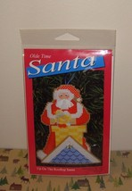 Yarn Tree Olde Time Santa Up On The Rooftop Santa Cross Stitch Kit - $10.99