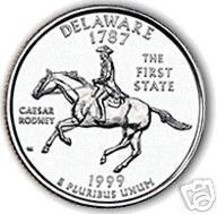 1999-P DELAWARE BRILLIANT UNCIRCULATED STATE QUARTER - $1.40