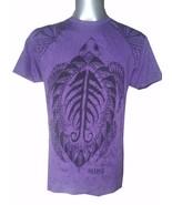 Yoga Men T Shirt turtle tortoise sea nature ocean  Peace Hobo Boho L RAR... - $22.76