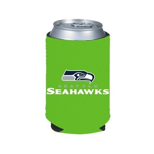 SEATTLE SEAHAWKS GREEN BEER SODA CAN BOTTLE KOOZIE KADDY HOLDER NFL FOOTBALL