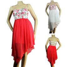 Flower Lace Chiffon Skirt Open Back Sexy Tube DRESS Summer Cocktail  PAR... - $27.99