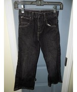 Wrangler Classic Boot Black Jeans Size 6 Slim Boy's Adjustable Waist EUC - $22.00
