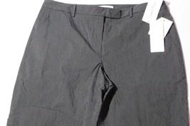 NWT- CALVIN KLEIN The Madison Slim Leg Black w/ pinstripes Dress Pants Size 10 - $17.33