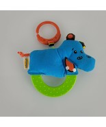 Infantino Blue Hippopotamus Hippo Ring Link Clip Baby Teether Teething T... - $19.79