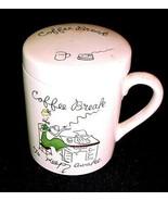 VTG POLITICALLY INCORRECT COFFEE BREAK TO KEEP AWAKE COFFEE CUP & ASHTRAY JAPAN - $25.73