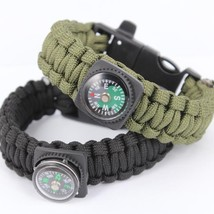 Survival Bracelets with Fire Starter Outdoor Self-rescue - One item (Color vary)
