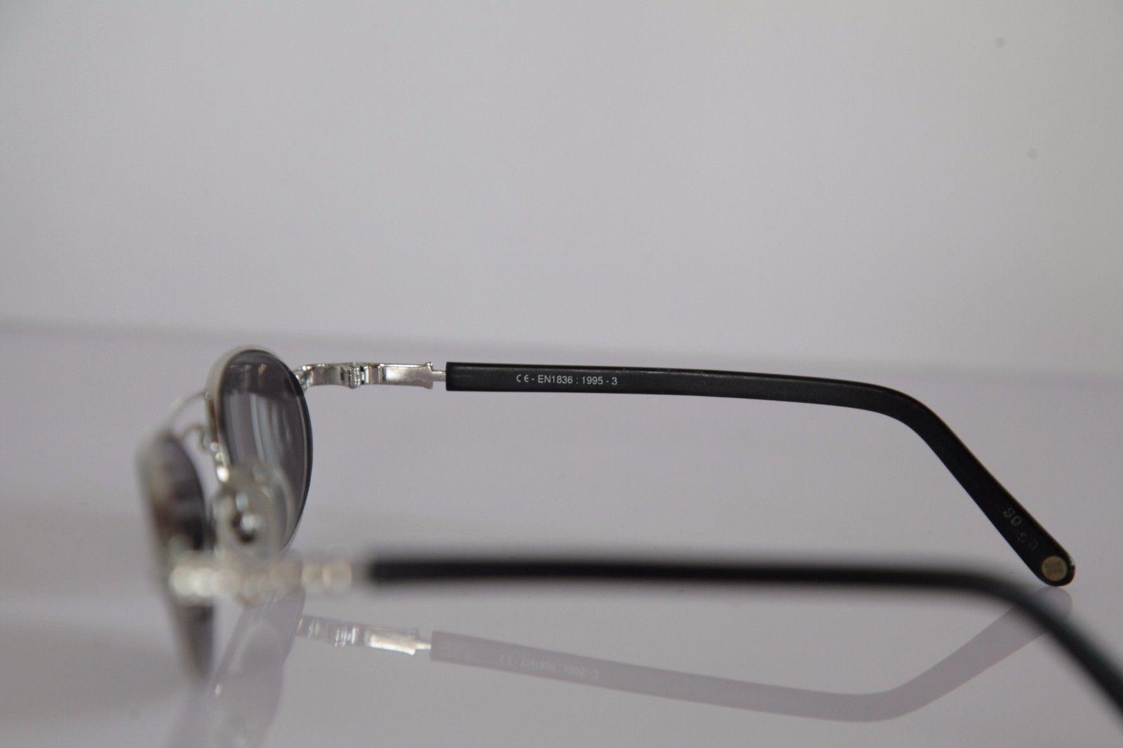 ESCHENBACH Eyewear, Chrome Frame, Black, Tinted  RX-Able Prescription lenses.
