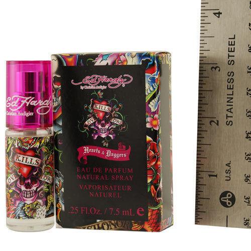 Ed Hardy Hearts Daggers For Women Eau De Parfum Spray: ED HARDY HEARTS & DAGGERS By Christian Audigier EAU DE PARFUM SPRAY MINI .25 OZ