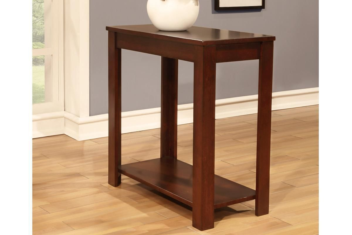 WARM CHERRY FINISHED OCCASIONAL CHAIR SIDE END TABLE